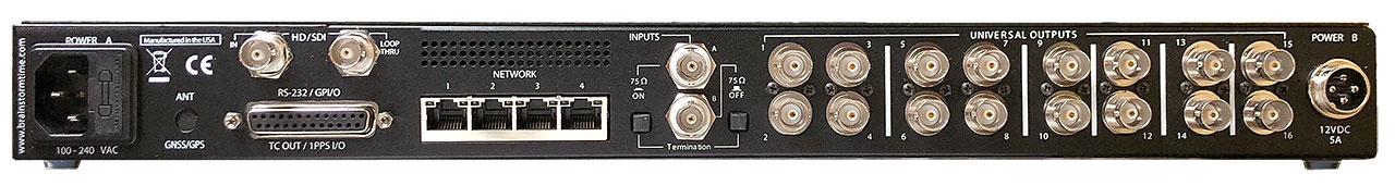 DXD-16 Universal Clock Rear Panel