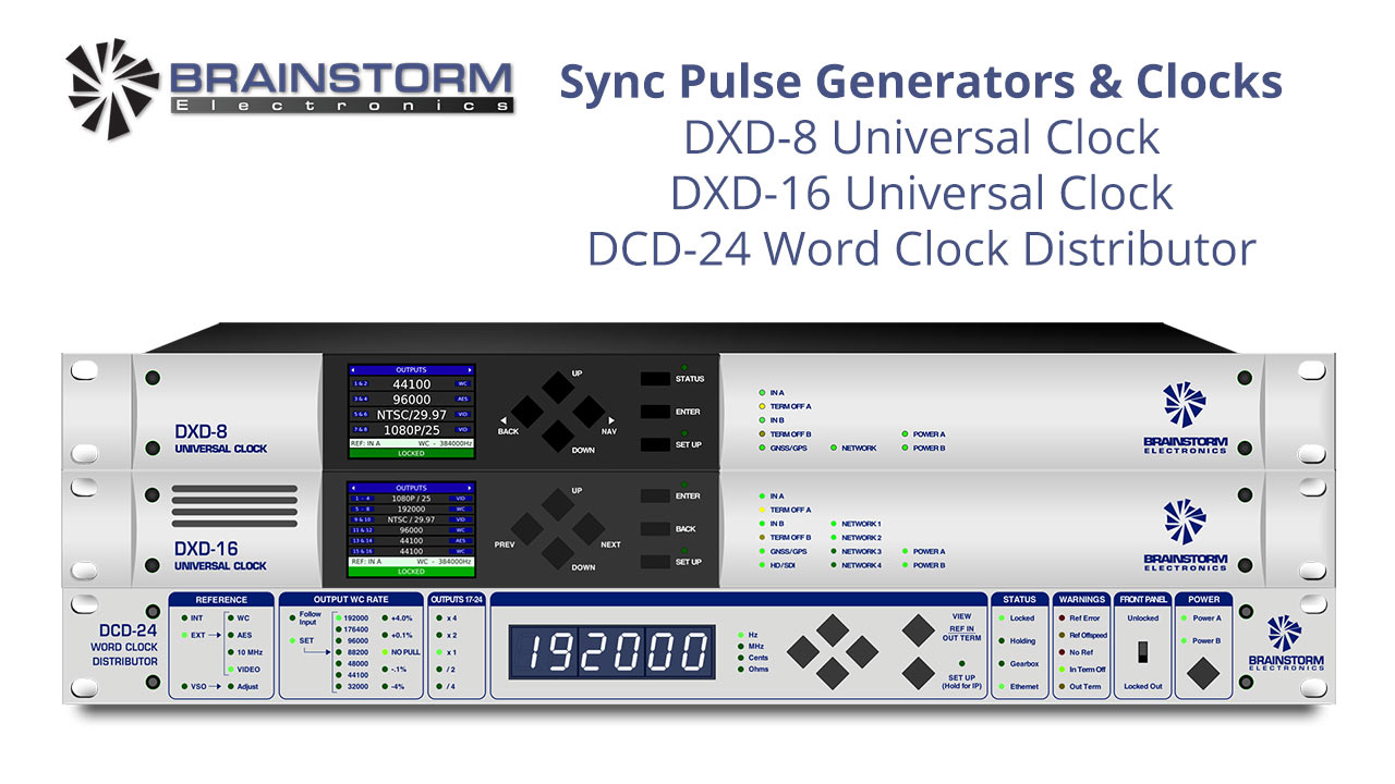 Sync Pulse Generators & Clocks DXD-8 DXD-16 DCD-24