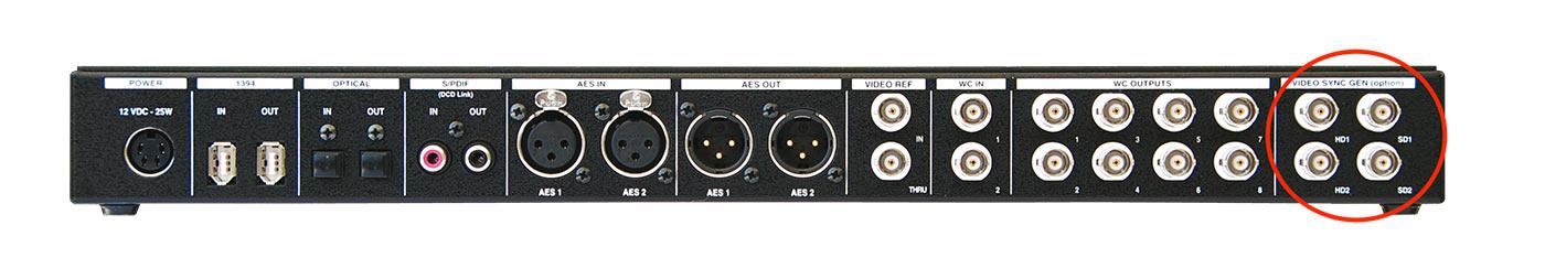 VSG-4 Rear DCD-8 Panel