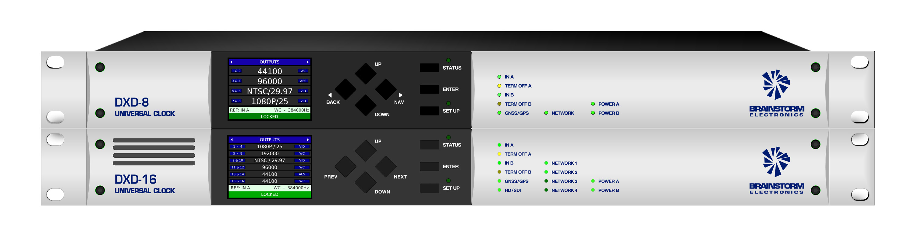 DXD-8 and DXD-16 Universal Clocks